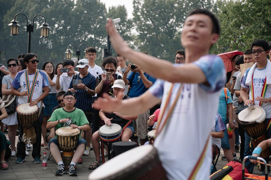 Le joyeux tambour africain: un bonheur dissimulé derrière le quartier touristique de Beijing