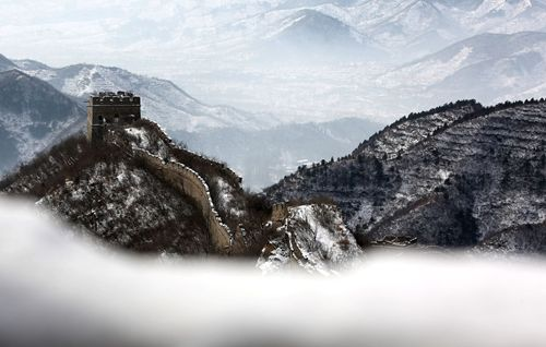 Great snowy Wall of China