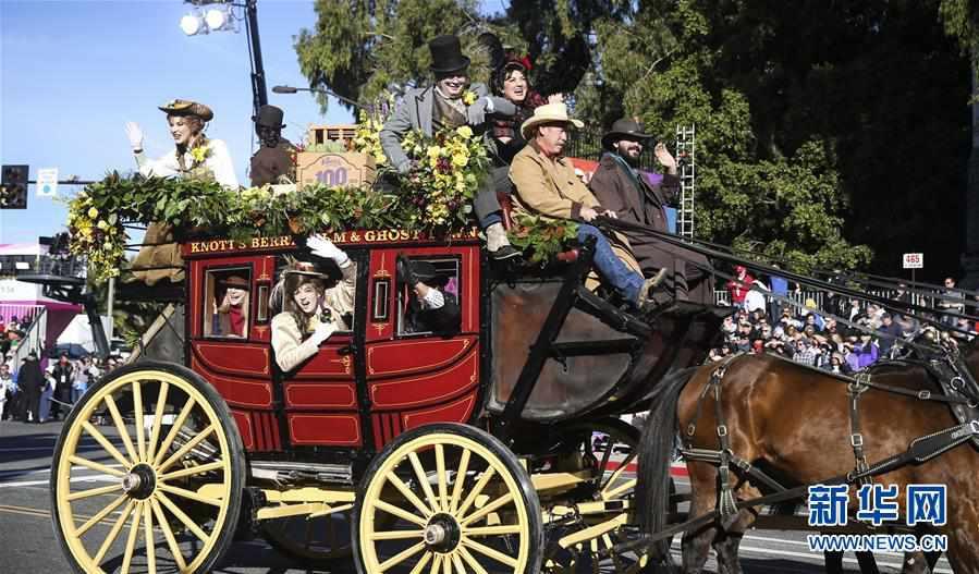(国际)(1)洛杉矶举行2020新年玫瑰花车游行