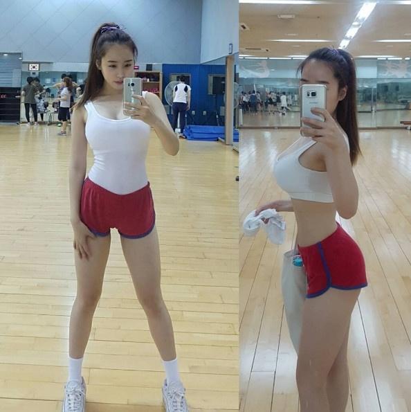 韩国体大女神晒健身照走红 网友:无心上课