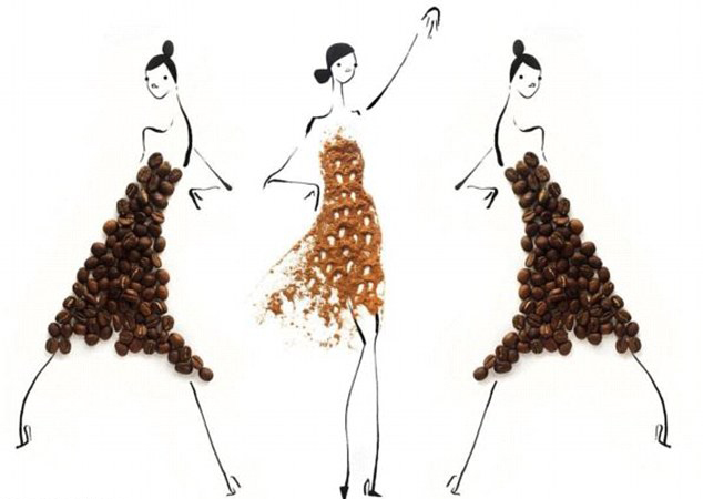 rehrs)在自己时髦的画作上粘贴健康的水果和蔬菜,特别是蘑菇,莴苣