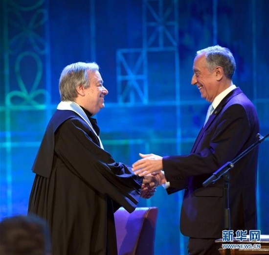 (国际)(2)联合国秘书长获颁里斯本大学荣誉博士学位